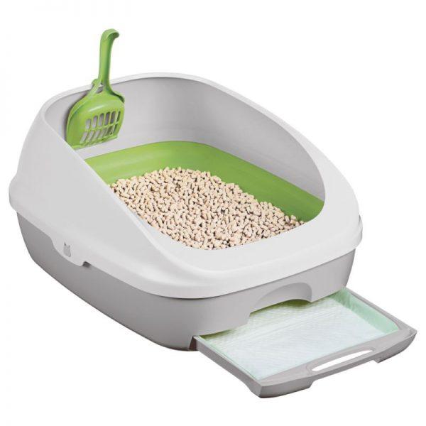 ZOOSHOP.ONLINE - Интернет-магазин зоотоваров - Туалет для кошек с гранулами и подстилкой Purina Tidy Test Brese