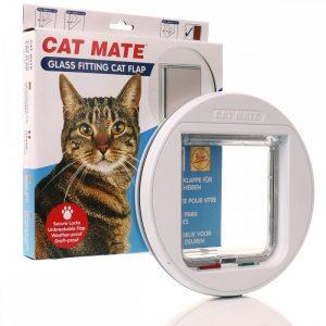 ZOOSHOP.ONLINE - Zoopreču internetveikals - Kaķu durvis priekš stikla durvīm Cat Mate 210
