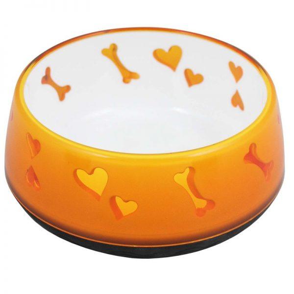 ZOOSHOP.ONLINE - Интернет-магазин зоотоваров - Dog Love Bowl миска для собак и кошек 600 мл апельсин