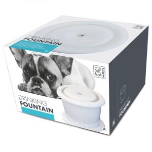 ZOOSHOP.ONLINE - Zoopreču internetveikals - Dzeramā strūklaka suņiem moderna dizaina 3 litri.