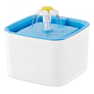 ZOOSHOP.ONLINE - Zoopreču internetveikals - Dzeramā ūdens dozators BLUE SKY 2,5 litri balti zils ar ziedu