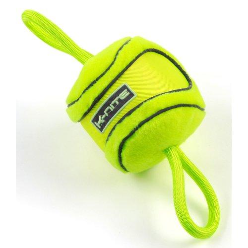 ZOOSHOP.ONLINE - Интернет-магазин зоотоваров - Неоново-желтая игрушка для собак K-Nite Glowing, флуоресцентные швы и логотип