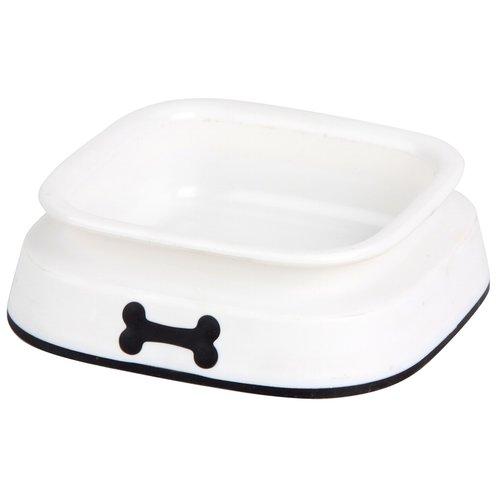 ZOOSHOP.ONLINE - Интернет-магазин зоотоваров - Пластиковая миска для собак с антискользящим резиновым покрытием 550 мл