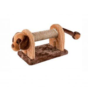 ZOOSHOP.ONLINE - Zoopreču internetveikals - Rotaļlieta kaķiem ar grabulīti no sizala un plīša. Suns