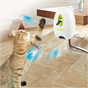 ZOOSHOP.ONLINE - Zoopreču internetveikals - Interaktīva kaķu rotaļlieta ar kustības sensoru