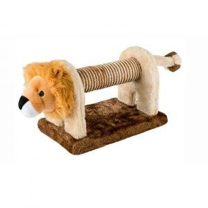 ZOOSHOP.ONLINE - Zoopreču internetveikals - Rotaļlieta kaķiem ar grabulīti no sizala un plīša. Lauva