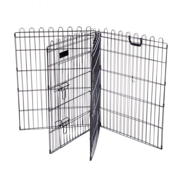 ZOOSHOP.ONLINE - Zoopreču internetveikals - Metāla manēža dzīvniekiem, 8 sekcijas, 57 x 76,5 cm