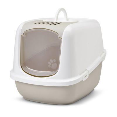 ZOOSHOP.ONLINE - Zoopreču internetveikals - SAVIC Nestor Jumbo tualete piemērota īpaši lielām kaķu šķirnēm – kapučīno