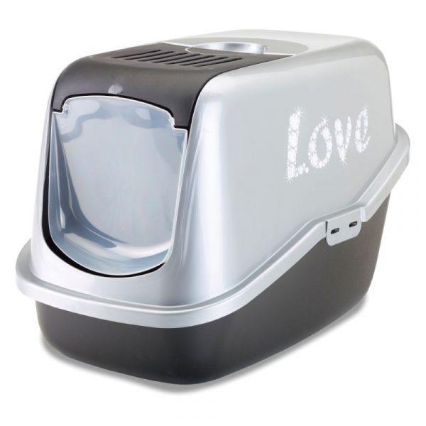 ZOOSHOP.ONLINE - Zoopreču internetveikals - Savic Nestor Impression «Love» kaķu tualete