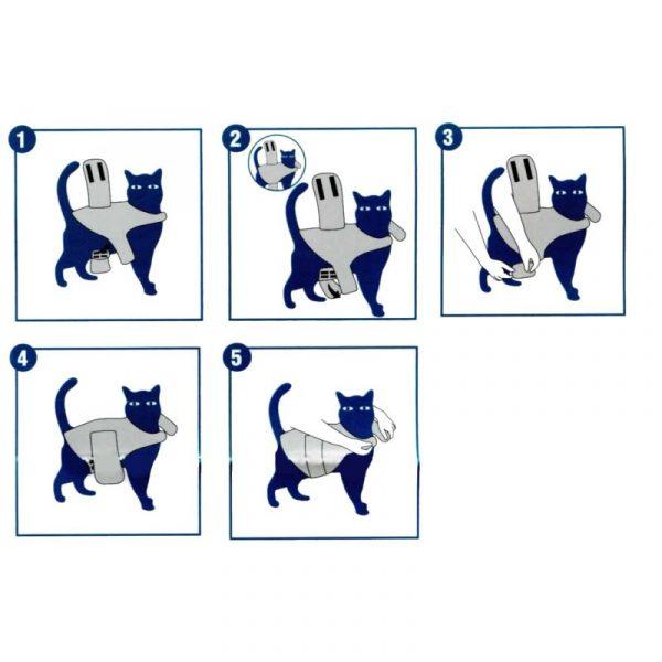 ZOOSHOP.ONLINE - Интернет-магазин зоотоваров - Успокаивающий жилет для кошек 4-6 кг / 33-43 см