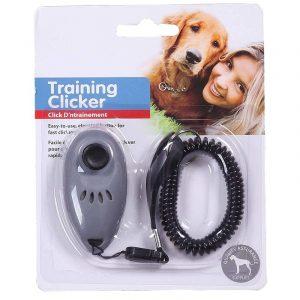 ZOOSHOP.ONLINE - Zoopreču internetveikals - Suņu apmācības Klikeris ar plaukstas stiprinājumu