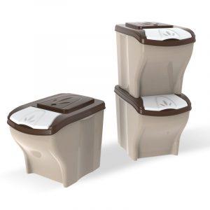 ZOOSHOP.ONLINE - Zoopreču internetveikals - Sausas barības uzglabāšanas tvertne, komplekts 3 x 20 litri
