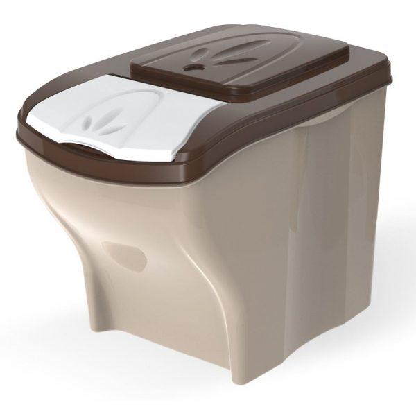 ZOOSHOP.ONLINE - Zoopreču internetveikals - Sausas barības uzglabāšanas tvertne, komplekts 20 litri