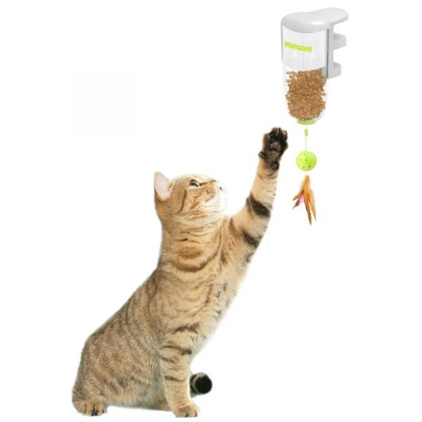 ZOOSHOP.ONLINE - Интернет-магазин зоотоваров - Интерактивная кошачья игрушка для лакомств, крепится на край стола