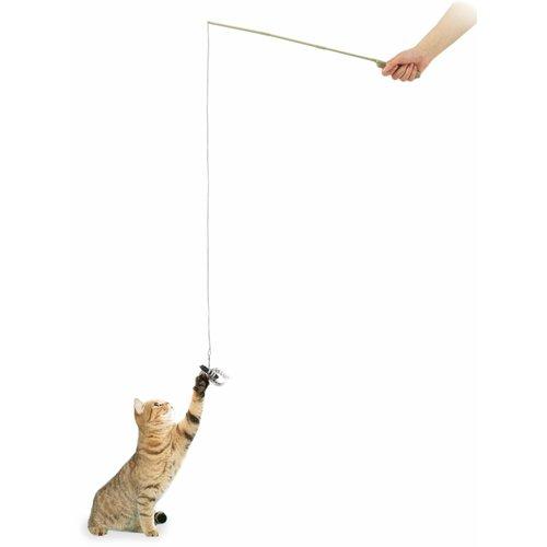 ZOOSHOP.ONLINE - Интернет-магазин зоотоваров - Игрушка для кошек, удочкa с черным жуком