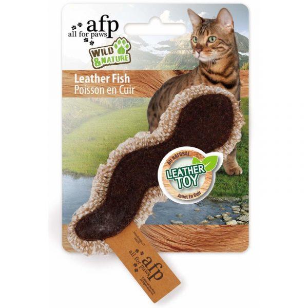 ZOOSHOP.ONLINE - Интернет-магазин зоотоваров - Натуральная игрушка для кошек из кожи и льна