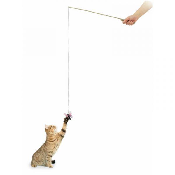 ZOOSHOP.ONLINE - Zoopreču internetveikals - Rotaļlieta kaķiem, makšķere ar tauriņu