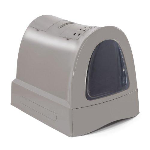 ZOOSHOP.ONLINE - Интернет-магазин зоотоваров - Туалет для кошек с выдвижным ящиком с ручкой для переноски и отсеком для хранения Коричневый