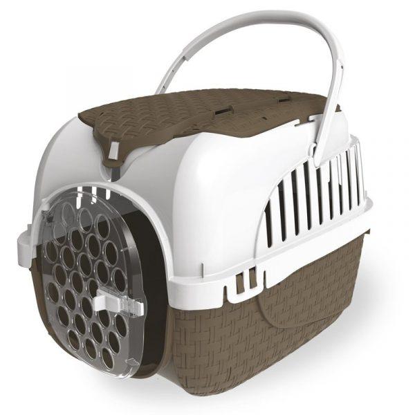 ZOOSHOP.ONLINE - Zoopreču internetveikals - Pārnēsājama kaste suņiem un kaķiem MAXY TOUR 59 x 38 x 37 cm