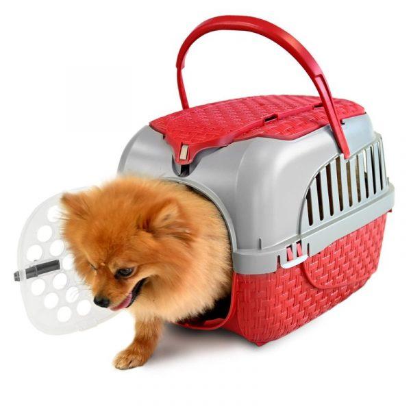 ZOOSHOP.ONLINE - Интернет-магазин зоотоваров - Переноска для собак, кошек и мелких животных 51 x 32 x 34 см