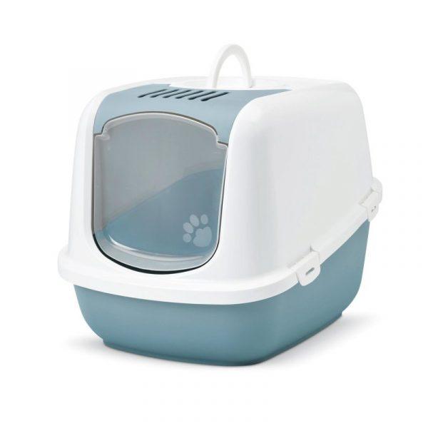 ZOOSHOP.ONLINE - Zoopreču internetveikals - SAVIC Nestor Jumbo tualete piemērota īpaši lielām kaķu šķirnēm – zilgana