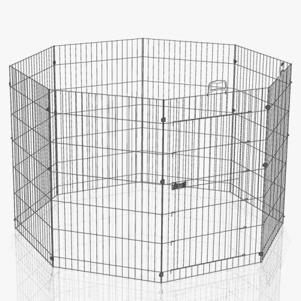 ZOOSHOP.ONLINE - Zoopreču internetveikals - Ferplast 8 daļigs nožogojums kucēniem kaķēniem un grauzējiem 57 x 91,5 cm