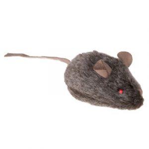 ZOOSHOP.ONLINE - Zoopreču internetveikals - Kaķu rotaļlieta Wild Mouse ar skaņu un LED acīm