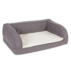 ZOOSHOP.ONLINE - Интернет-магазин зоотоваров - Ортопедический диван для собак 90 x 60 x 30 см Cерый